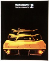 1969 Corvette Dealer Showroom Sales Brochure  OE Quality!