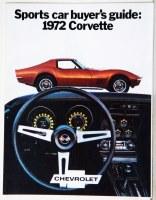 1972 Corvette Dealer Showroom Sales Brochure  OE Quality!