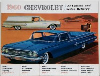 1960 El Camino Dealer Showroom Sales Brochure  OE Quality!