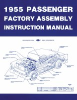 1955 Full Size Chevy Factory Assembly Manual OE Quality! Printed In The USA!