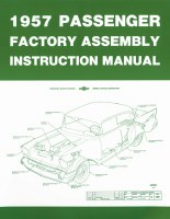 1957 Full Size Chevy Factory Assembly Manual OE Quality! Printed In The USA!
