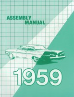 1959 Full Size Chevy Factory Assembly Manual OE Quality! Printed In The USA!