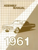 1961 Full Size Chevy Factory Assembly Manual OE Quality! Printed In The USA!
