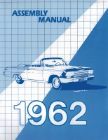 1962 Full Size Chevy Factory Assembly Manual OE Quality! Printed In The USA!