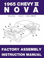 1965 Chevy II Nova Factory Assembly Manual OE Quality! Printed In The USA!