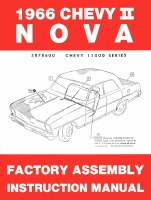 1966 Chevy II Nova Factory Assembly Manual OE Quality! Printed In The USA!