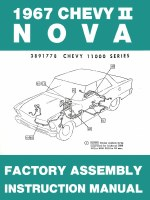 1967 Chevy II Nova Factory Assembly Manual OE Quality! Printed In The USA!