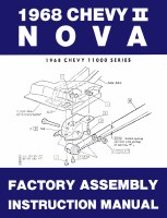1968 Nova Factory Assembly Manual OE Quality! Printed In The USA!