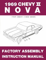 1969 Nova Factory Assembly Manual OE Quality! Printed In The USA!
