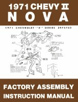 1971 Nova Factory Assembly Manual OE Quality! Printed In The USA!