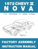 1972 Nova Factory Assembly Manual OE Quality! Printed In The USA!