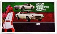 1970 Camaro Custom Illustrated Accessories Pamphlet