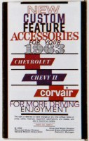 1963 FullSize Chevrolet & Chevy II Custom Illustrated Accessories Pamphlet