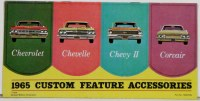 1965 Full Size Chevrolet Chevelle Nova Corvair  Custom Illustrated Accessories Pamphlet