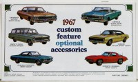 1967 Full Size Chevrolet Custom Illustrated Accessories Pamphlet