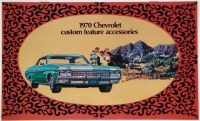 1970 Full Size Chevrolet Custom Illustrated Accessories Pamphlet