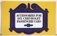 1971 Full Size Chevrolet Custom Illustrated Accessories Pamphlet