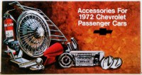 1972 Full Size Chevrolet Custom Illustrated Accessories Pamphlet