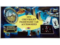 1974 Full Size Chevrolet Custom Illustrated Accessories Pamphlet