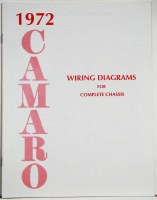 1972 Camaro Factory Wiring Diagram Manual