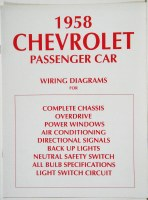 1958 Full Size Chevrolet Factory Wiring Diagram Manual