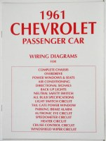 1961 Full Size Chevrolet Factory Wiring Diagram Manual