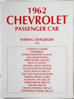 1962 Full Size Chevrolet Factory Wiring Diagram Manual