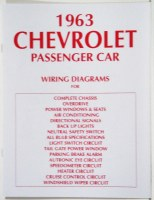 1963 Full Size Chevrolet Factory Wiring Diagram Manual