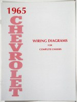 1965 Full Size Chevrolet Factory Wiring Diagram Manual