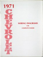 1971 Full Size Chevrolet Factory Wiring Diagram Manual