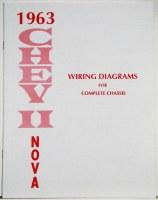 1963 Chevy II Nova Factory Wiring Diagram Manual