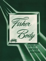 1970 Camaro F-Body Fisher Body Manual
