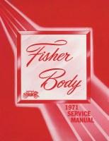 1971 Camaro Chevelle Corvette Nova  Fisher Body Service Manual