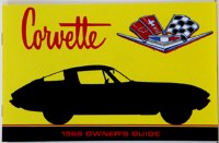 1966 Corvette Factory Owners Manual OE Quality! Printed In The USA!