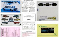 1967 Camaro Glove Box Owners Manual Kit  Coupe