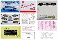 1967 Camaro Glove Box Owners Manual Kit  Convertible