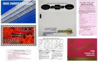 1968 Camaro Glove Box Owners Manual Kit  Convertible