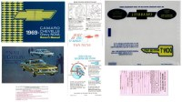 1969 Camaro Glove Box Owners Manual Kit  Van Nuys