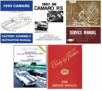 1968 Camaro  Restoration Book Set  Service Body Chassis Wiring Diagrams