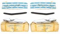 67 68 Camaro NOS Rear Bumper Guards w/Rubber Inserts & Hardware