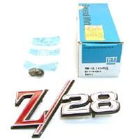 1969 Camaro NOS Z/28 TailLight Panel Emblem GM Part# 8701333