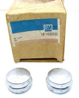 67 68 69 Camaro NOS Front Wheel Bearing Grease Caps Original GM Pair