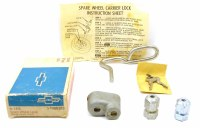 1967 1968 1969 Camaro & Firebird NOS Spare Tire Accessory Lock Kit  Original GM Part# 986383