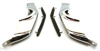 67 68 Camaro Front Bumper Guards Rechromed w/NOS GM Rubber Inserts  Pair
