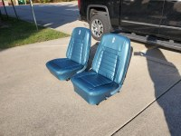 1968 1968 Deluxe Interior Medium Blue Front & Rear Seats With New Covers