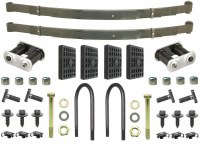 67 68 69 Camaro & Firebird 4 Leaf Rear Springs & Install Kit OE Correct USA!