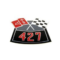 67 68 69 Camaro 427 Cross Flags Air Cleaner Decal   GM# 3902414