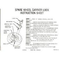 1967 1968 1969 Camaro & Firebird Spare Wheel Carrier Lock Instructions GM# 3903458