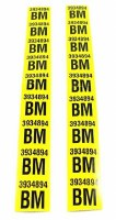 1969 Camaro Rear Leaf Spring Decals Pair GM# 3934894 BM  302 Z/28