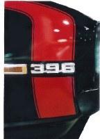 1969 Camaro Super Sport Hockey Stick Stencil & Stripe Kit w/Red Door Decals